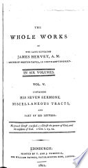 The Whole Works Of The Late Reverend James Hervey A M