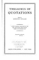 Thesaurus of Quotations