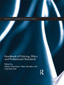 Handbook Of Policing Ethics And Professional Standards