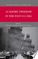Academic Freedom in the Post 9 11 Era