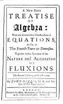 A new short treatise of Algebra ... Second edition, etc. MS. notes