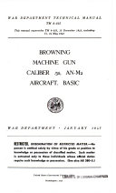 Browning Machine Gun, Caliber .50, AN-M2 Aircraft, Basic