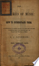 The Mysteries of Music  how to Understand Them