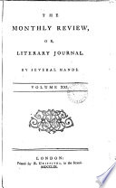 The Monthly Review Or Literary Journal Volume Xxi