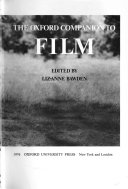 The Oxford Companion to Film