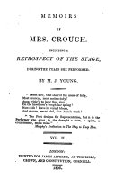 Memoirs of Mrs  Crouch