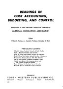 Readings in Cost Accounting  Budgeting  and Control