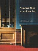 Pdf Simone Weil as We Knew Her