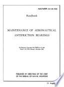 Maintenance of Aeronautical Antifriction Bearings Book