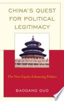 China S Quest For Political Legitimacy