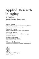 Applied Research in Aging