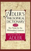 Adler's Philosophical Dictionary