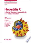 Hepatitis C In Renal Disease Hemodialysis And Transplantation Book PDF