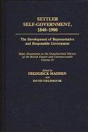 Pdf Settler Self-government, 1840-1900