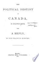 The Political Destiny of Canada Book PDF