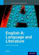 Cover of English A Language and Literature: IB Skills and Practice
