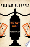 One-Way Ticket William G. Tapply Cover
