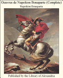 Pdf Oeuvres de Napol_on Bonaparte (Complete) Telecharger