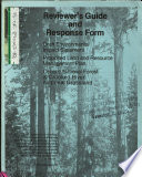 Ochoco National Forest  N F   and Crooked River National Grassland  Proposed Land and Resource s  Management Plan  LRMP