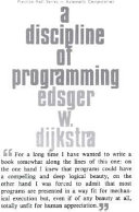 A Discipline of Programming