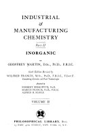 Industrial and manufacturing chemistry