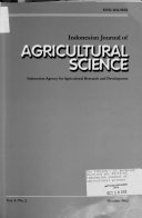 Indonesian Journal of Agricultural Science Book
