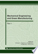 Mechanical Engineering And Green Manufacturing Book PDF