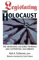 Legislating The Holocaust