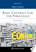 """""""Basic Contract Law for Paralegals"""" by Jeffrey A. Helewitz"""