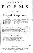 Divine Poems on the Sacred Scriptures