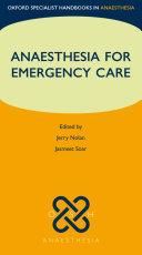 Anaesthesia for Emergency Care Pdf/ePub eBook