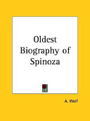 Oldest Biography of Spinoza 1927