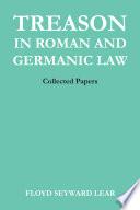 Treason in Roman and Germanic Law Book