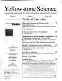 Yellowstone Science Book PDF