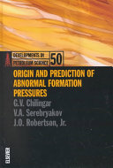 Origin And Prediction Of Abnormal Formation Pressures Book PDF