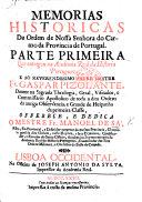 Memorias historicas da ordem de Nossa Senhora do Carmo da Provincia de Portugal