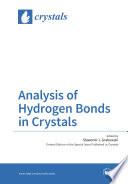 Analysis of Hydrogen Bonds in Crystals Book