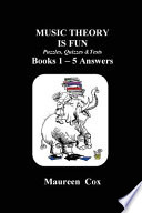 Music Theory Is Fun Puzzles, Quizzes & Tests Books 1 - 5 Answers
