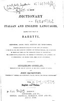 *Baretti's Italian Dictionary