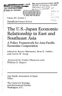 The U s  japan Economic Relationship In East And Southeast Asia
