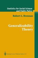Generalizability Theory [Pdf/ePub] eBook