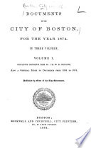 Documents of the City of Boston Book