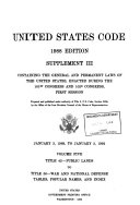 United States Code  Title 43  Public lands to title 50  war and national defense tables  popular names  and index