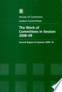 The Work Of Committees In 2008 09
