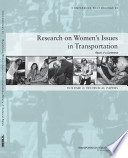 Research on Women's Issues in Transportation, Report of a Conference