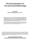 Second Symposium on Fire and Forest Meteorology