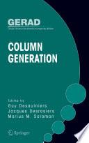 Column Generation Book