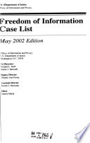 Freedom of Information Case List Book PDF