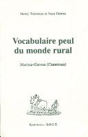 Pdf Vocabulaire peul du monde rural Telecharger