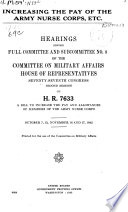 Increasing the Pay of the Army Nurse Corps  Etc